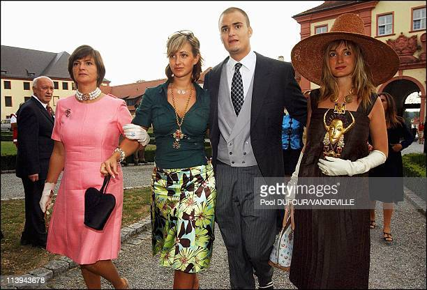 Wedding of Fleur of Wurtemberg and Count Moritz Von Goess In Germany On August 09 2003 Gloria Maria Teresa Albert and Elisabeth Thurn und Taxis