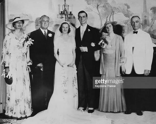 Wedding Of Franklin Delano Roosevelt Jr With Ethel Du Pont In Wilmington In Usa On June 30St 1937