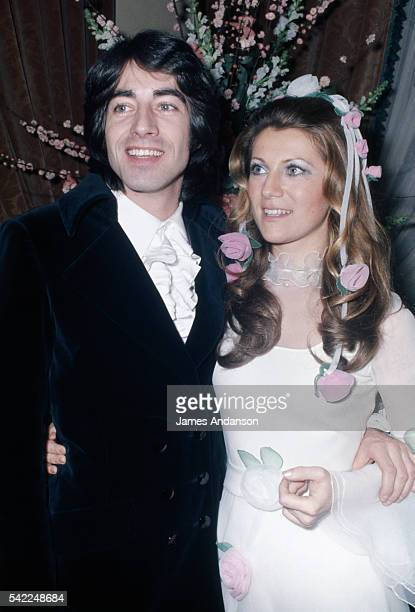 Wedding of French singers Sheila whose real name is Annie Chancel and Ringo whose real name is Guy Bayle at the Notre Dame de la Garde Church