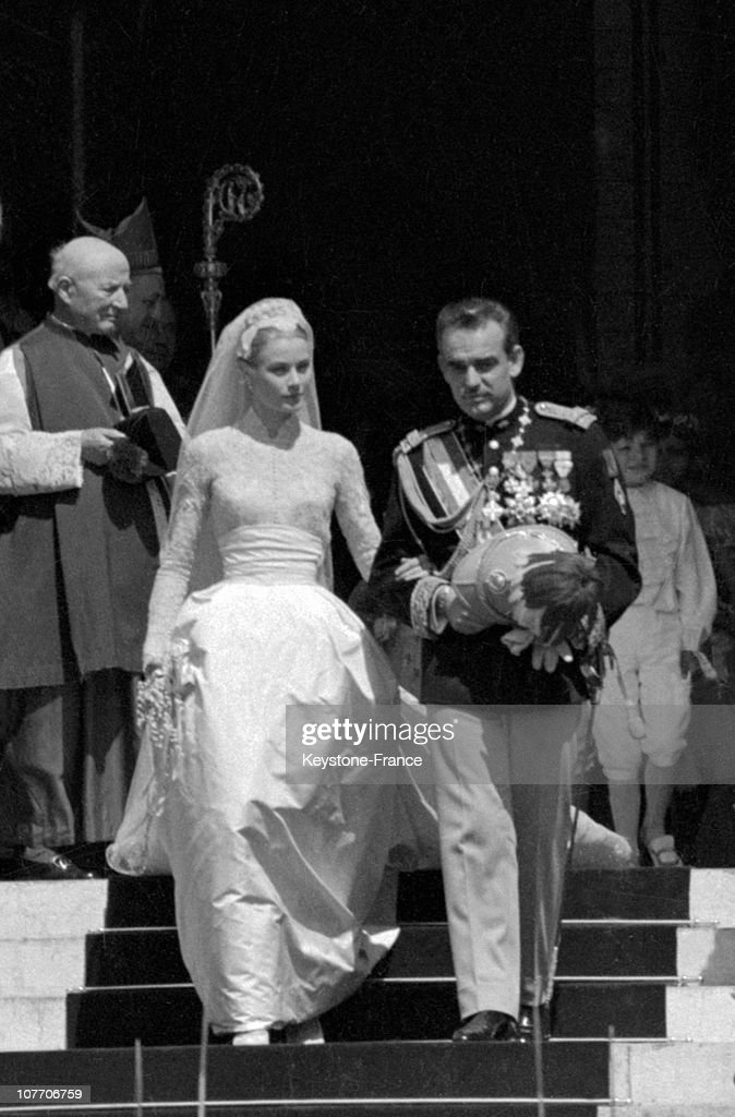 Wedding Of Prince Rainier And Grace Kelly In 1956 : News Photo