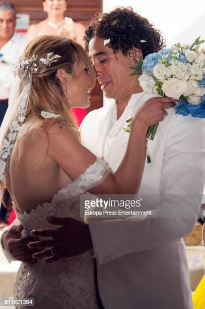 Wedding of Guillermo Ochoa and Karla Mora on July 8, 2017 in Ibiza, Spain.