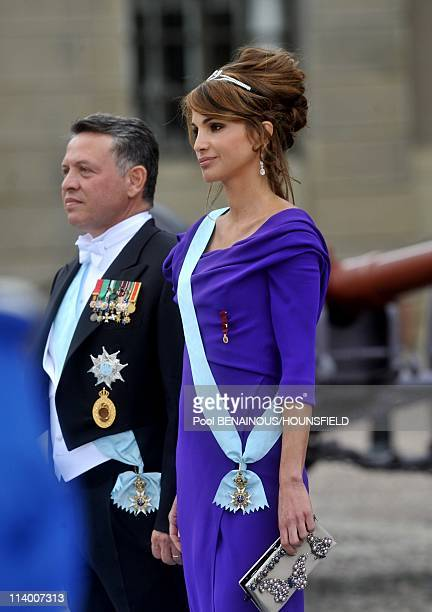 Wedding of Her Royal Highness Crown Princess Victoria of Sweden and Daniel Westling In Stockholm, Sweden On June 19, 2010-King Abdullah and Queen...