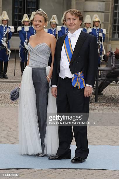 Wedding of Her Royal Highness Crown Princess Victoria of Sweden and Daniel Westling In Stockholm, Sweden On June 19, 2010-Prince Friso av...