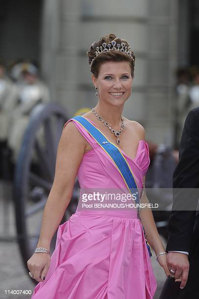 Wedding of Her Royal Highness Crown Princess Victoria of Sweden and Daniel Westling In Stockholm Sweden On June 19 2010Princess Martha Louise and Ari...