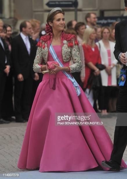 Wedding of HRH Crown Princess Victoria of Sweden and Daniel Westling In Stockholm Sweden On June 19 2010Infente Elena of Spain