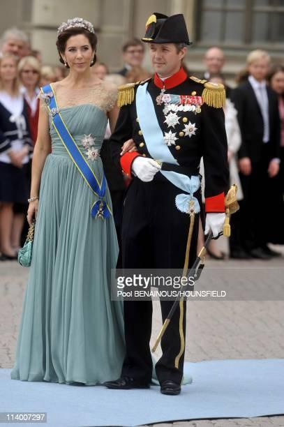 Wedding of H.R.H. Crown Princess Victoria of Sweden and Daniel Westling In Stockholm, Sweden On June 19, 2010-Crown prince Frederik and princess Mary...