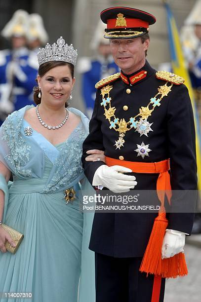 Wedding of HRH Crown Princess Victoria of Sweden and Daniel Westling In Stockholm Sweden On June 19 2010Grand duke of Luxembourg Henri and Grand...