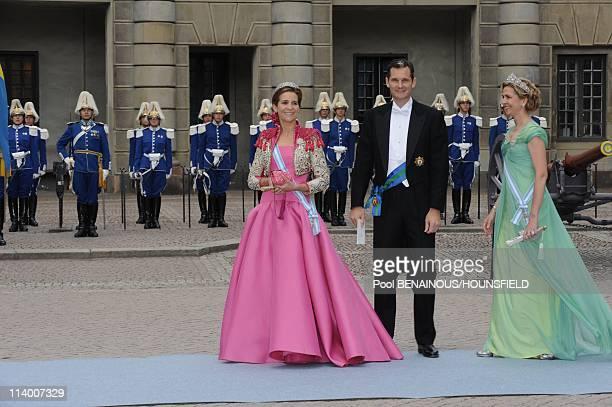 Wedding of HRH Crown Princess Victoria of Sweden and Daniel Westling In Stockholm Sweden On June 19 2010Infente Elena of Spain and infante Cristina...