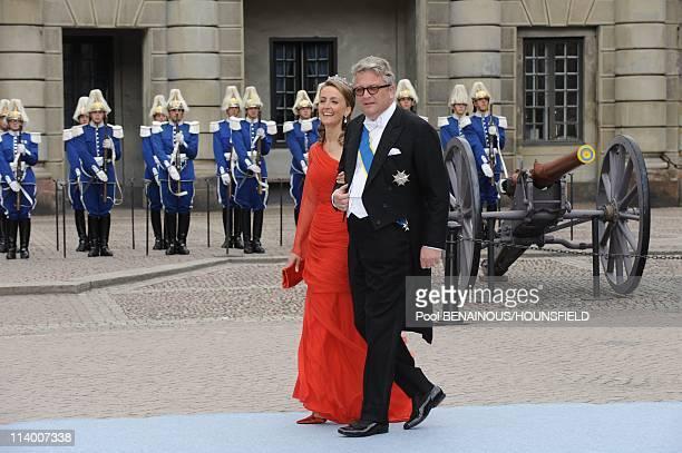 Wedding of H.R.H. Crown Princess Victoria of Sweden and Daniel Westling In Stockholm, Sweden On June 19, 2010-Prince Laurent of Belgium and princess...
