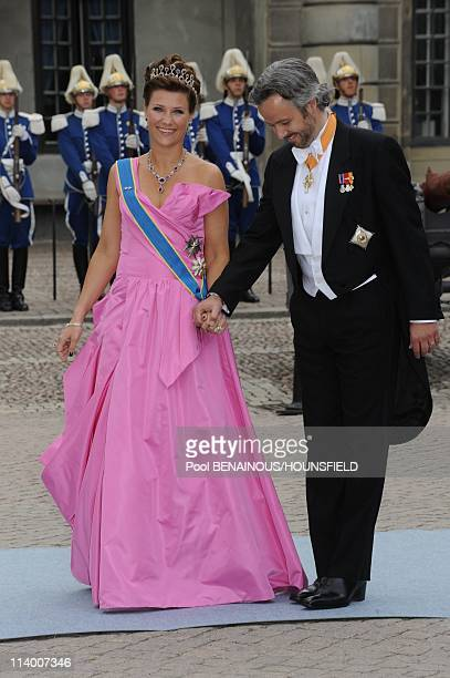 Wedding of HRH Crown Princess Victoria of Sweden and Daniel Westling In Stockholm Sweden On June 19 2010Princess Martha Louise and Ari Behn