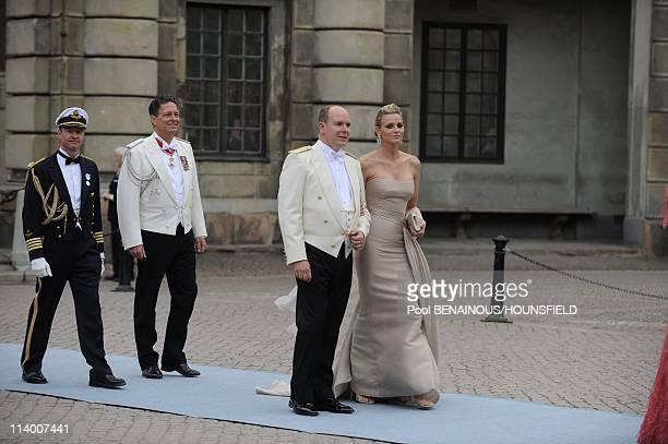 Wedding of H.R.H. Crown Princess Victoria of Sweden and Daniel Westling In Stockholm, Sweden On June 19, 2010-Prince Albert II of Monaco and Charlene...