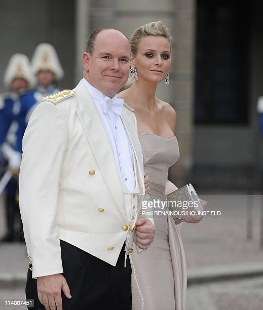 Wedding of HRH Crown Princess Victoria of Sweden and Daniel Westling In Stockholm Sweden On June 19 2010Prince Albert II of Monaco and Charlene...