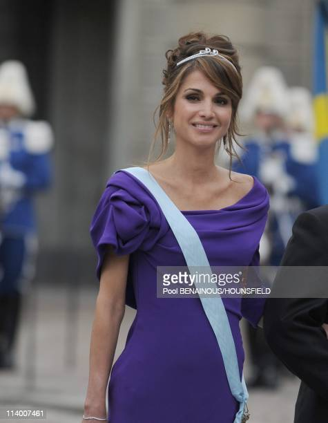Wedding of H.R.H. Crown Princess Victoria of Sweden and Daniel Westling In Stockholm, Sweden On June 19, 2010-King Abdullah and Queen Rania of...