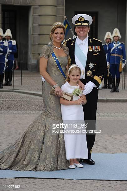 Wedding of H.R.H. Crown Princess Victoria of Sweden and Daniel Westling In Stockholm, Sweden On June 19, 2010-Princess Maxima and crown Prince Willem...