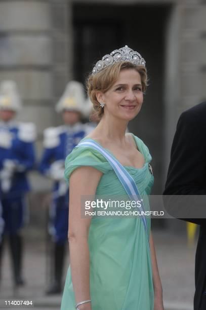 Wedding of HRH Crown Princess Victoria of Sweden and Daniel Westling In Stockholm Sweden On June 19 2010Infante Cristina