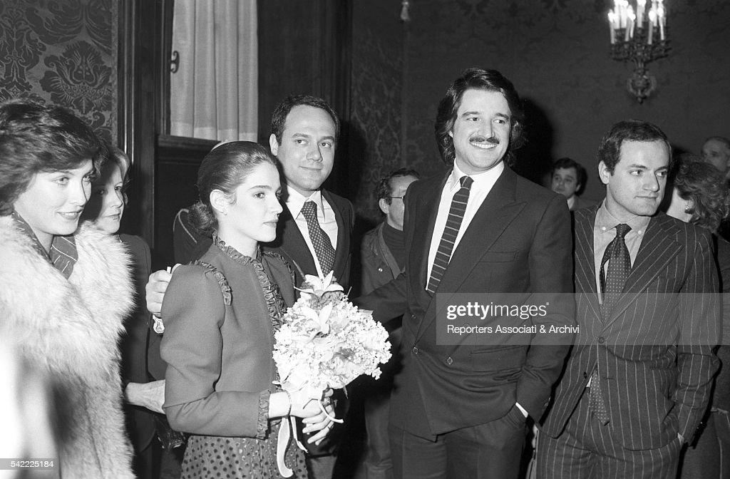 Wedding of Christian De Sica and Silvia Verdone : News Photo