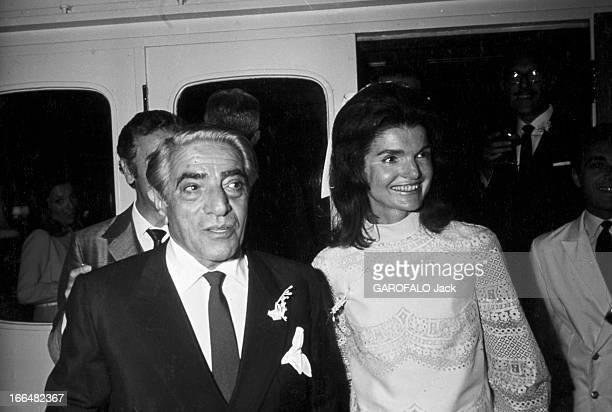 Wedding Of Jackie Kennedy And Aristotle Onassis Ile de Skorpios 20 octobre 1968 Lors de la célébration du mariage de Jackie KENNEDY et de l'armateur...