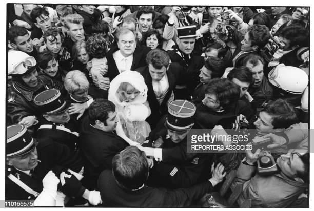 Wedding of Johny Hallyday and Sylvie Vartan in France on April 12, 1965.