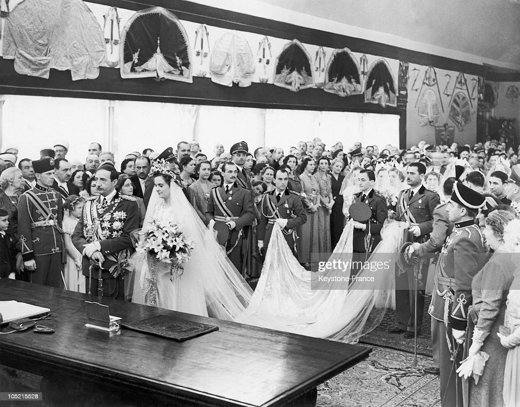 Wedding Of King Zog 1St And Queen Geraldine In 1938 : News Photo