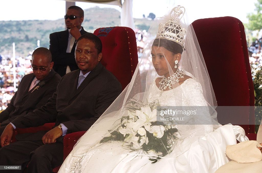 Wedding Of Letsie 3 Of Lesotho With Karabo Motsoeneng In Maseru, Lesotho On February 18, 2000. : News Photo