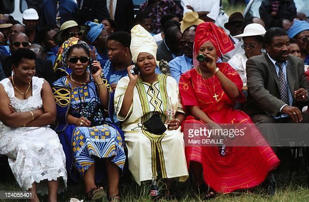 Wedding of Letsie 3 of Lesotho with Karabo Motsoeneng In Maseru, Lesotho On February 18, 2000.