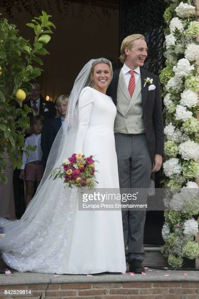 Wedding of MarieGabrielle of Nassau and Antonius Willms on September 2 2017 in Marbella Spain