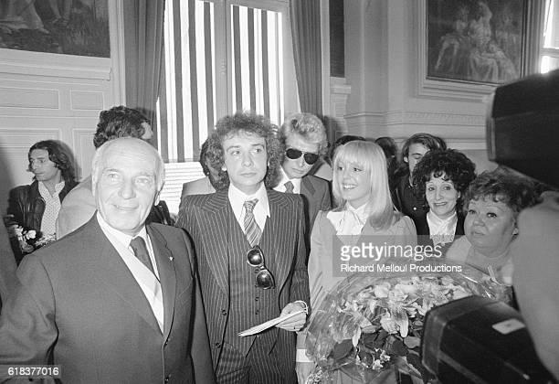 Wedding of Michel Sardou and Babette