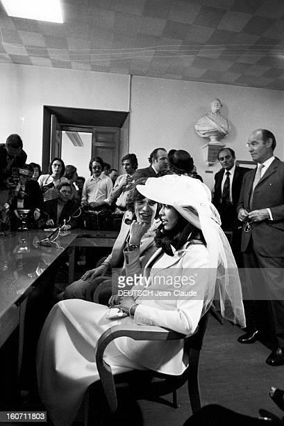 Wedding Of Mick Jagger And Bianca Morena Perez De Macias In Saint-tropez. A Saint-Tropez, dans une salle de la mairie, en pr?sence de leurs proches,...