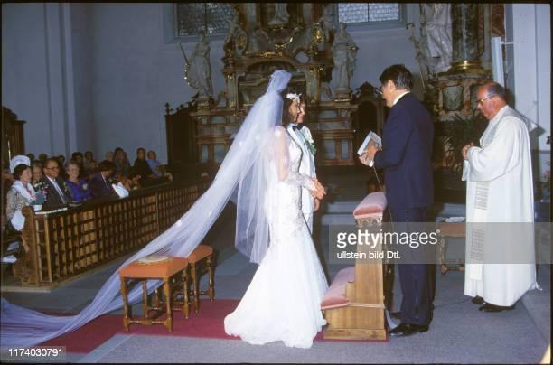 Wedding of Monika Kaelin and Fritz Künzli 1985