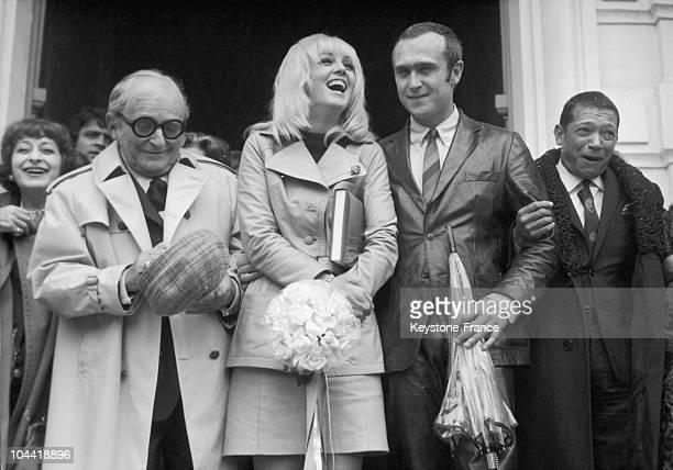 Wedding Of Mylene Demongeot With Marc Simenon In SaintCloud