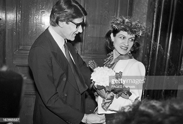 Wedding Of Paloma Picasso And Rafael Lopez Sanchez France Paris 5 mai 1978 Paloma PICASSO est une créatrice de mode et une femme d'affaires...