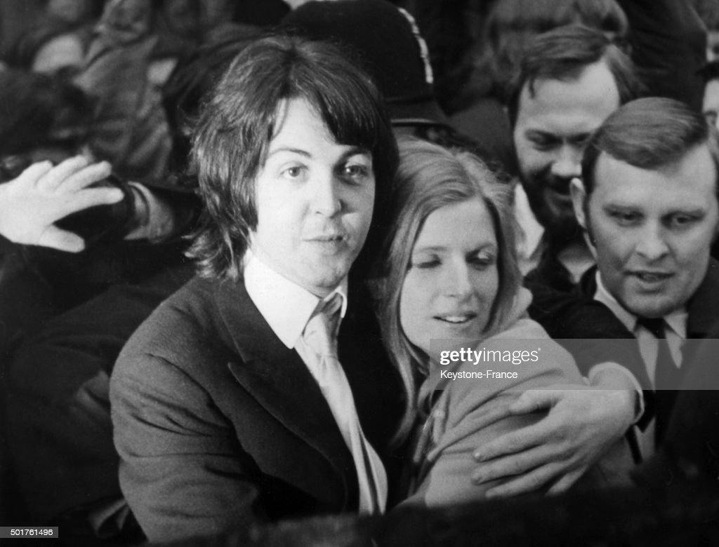 Wedding Of Paul McCartney With American Photographer Linda Eastman At The Marylebone Register Office On March