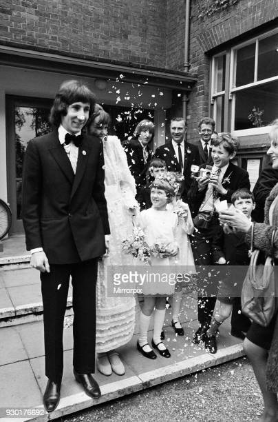 Wedding of Pete Townshend of British rock group The Who and Karen Astley, 20th May 1968.