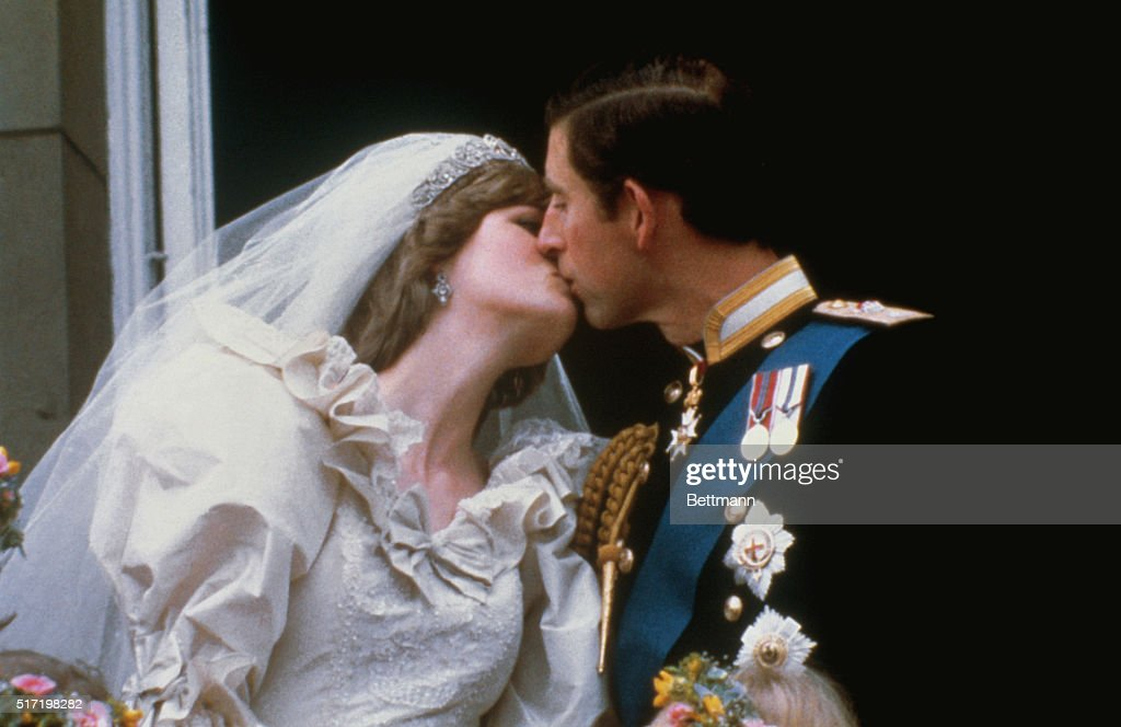 Wedding Of Prince Charles And Lady Diana Spencer Shows The Famous Kiss On Balcony
