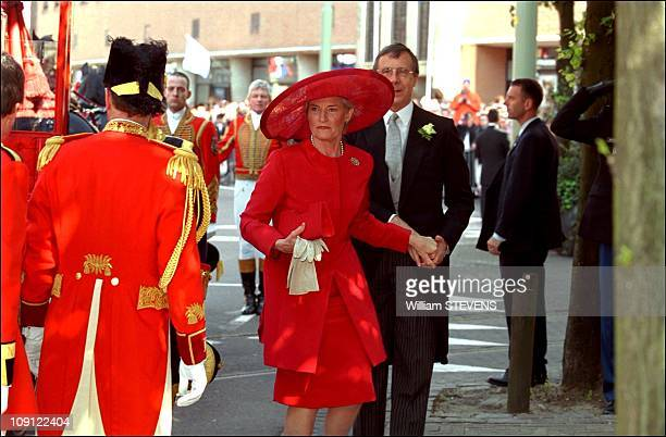 Wedding Of Prince Constantin And Laurentien Brinkhorst On May 19Th, 2001 In The Hague, Netherlands. Laurentien Brinkhorst'S Parents Arriving At St...