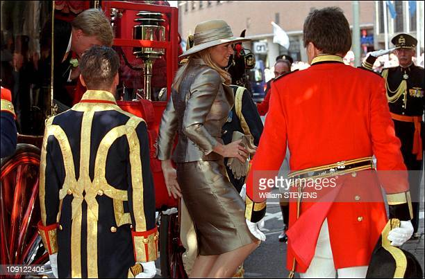 Wedding Of Prince Constantin And Laurentien Brinkhorst On May 19Th, 2001 In The Hague, Netherlands. Maxima Zorreguieta, Fiancee Of Prince Willem...