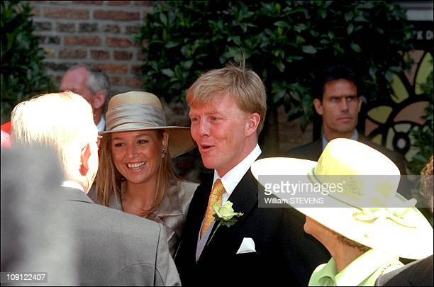 Wedding Of Prince Constantin And Laurentien Brinkhorst On May 19Th 2001 In The Hague Netherlands Prince Willem Alexander And Fiancee Maxima