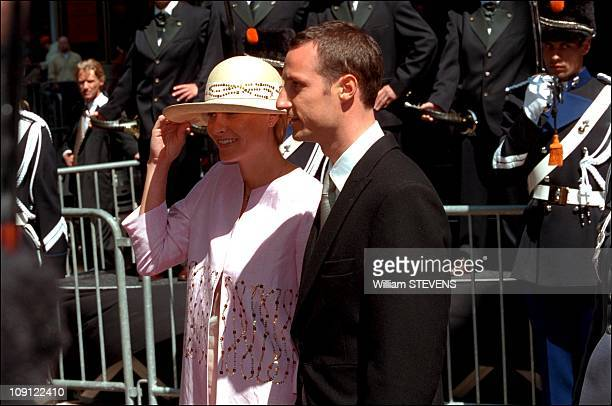 Wedding Of Prince Constantin And Laurentien Brinkhorst On May 19Th, 2001 In The Hague, Netherlands. Prince Haakon Magnus Of Norway And Fiancee Mette...
