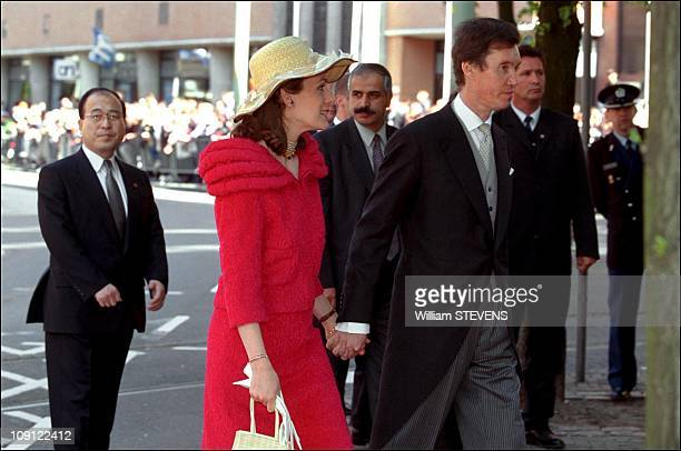 Wedding Of Prince Constantin And Laurentien Brinkhorst On May 19Th, 2001 In The Hague, Netherlands. Prince Guillaume And Princess Sybilla Of Luxemburg