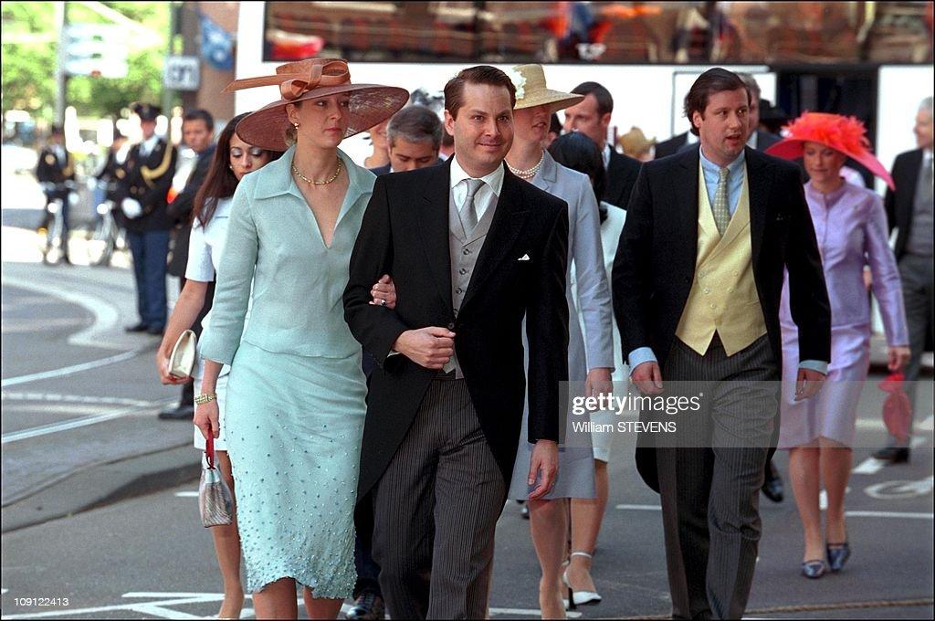Wedding Of Prince Constantin And Laurentien Brinkhorst On May 19Th, 2001 In La Haye, Netherlands. : Nieuwsfoto's
