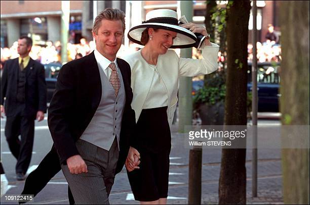 Wedding Of Prince Constantin And Laurentien Brinkhorst On May 19Th, 2001 In The Hague, Netherlands. Prince Philippe & Mathilde Of Belgium