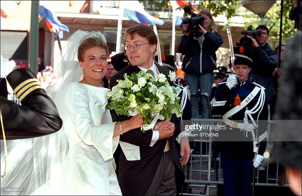 Wedding Of Prince Constantin And Laurentien Brinkhorst On May 19Th, 2001 In La Haye, Netherlands. : Nachrichtenfoto