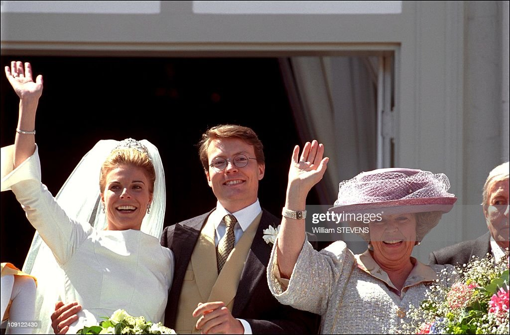 Wedding Of Prince Constantin And Laurentien Brinkhorst On May 19Th, 2001 In La Haye, Netherlands. : Foto di attualità