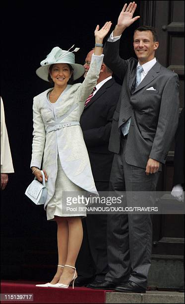 Wedding of Prince Frederik and Mary Donaldson reception at the city hall of Copenhagen in Copenhagen Denmark on May 12 2004 Princess Alexandra and...