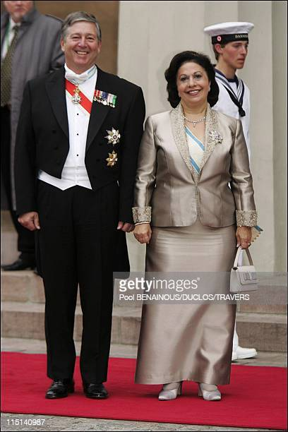 Wedding of Prince Frederik of Denmark and Mary Donaldson arrivals at the cathedral in Copenhagen Denmark on May 14 2004 Prince Alexander of...