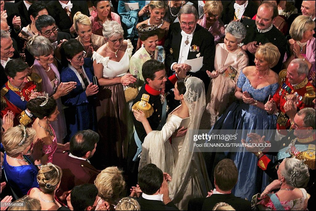 Wedding Of Prince Frederik Of Denmark And Mary Donaldson : The Wedding Waltz At Fredensborg Palace In Copenhagen, Denmark On May 14, 2004. : News Photo