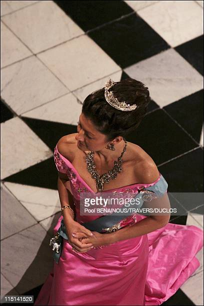 Wedding of Prince Frederik of Denmark and Mary Donaldson the Wedding waltz at Fredensborg Palace in Copenhagen Denmark on May 14 2004 Princess...