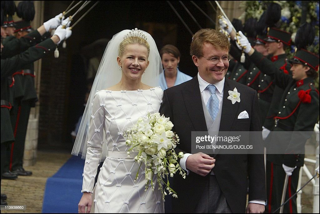 Wedding of Prince Friso and Miss Mabel Smit in Delft, Netherlands On April 20, 2004- : News Photo
