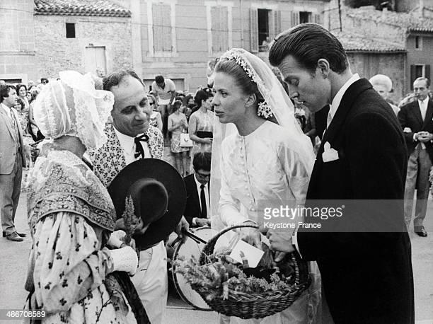 Wedding of Prince Jacques d Orleans with Gersande de Sabran Ponteves on August 041969