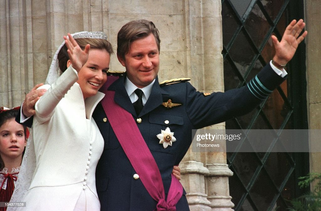Wedding of Prince Philippe of Belgium and Mathilde d'Udekem d'Acoz... : News Photo